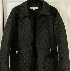 Liz Claiborne Med black quilted Utility Jacket